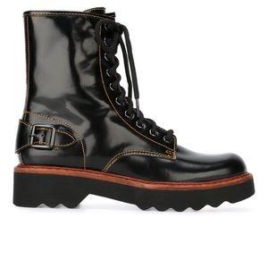 PRICE ✂️ NWB COACH Women's Black Moto Hiker Boots